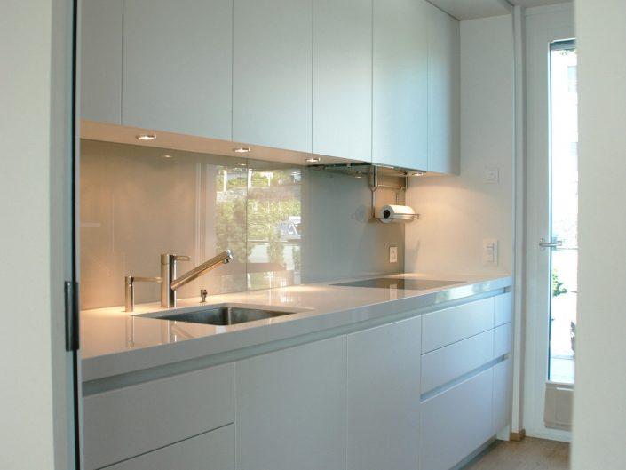 Kücheneinrichtung Neubau Hk Weiss Innenausbau